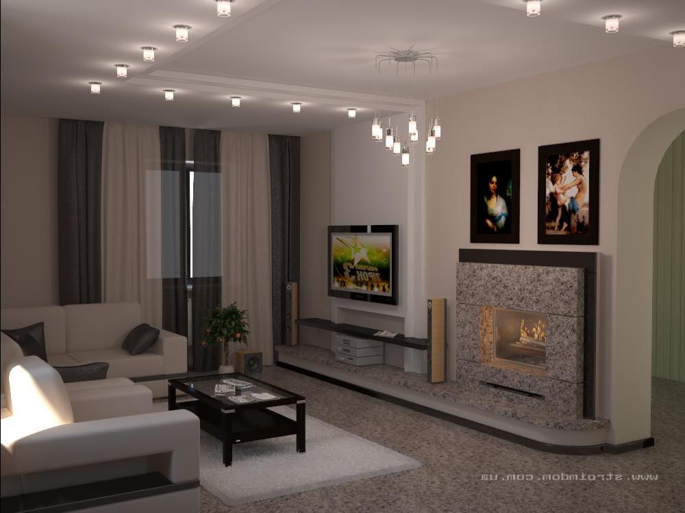 Интерьер с камином в квартире фото