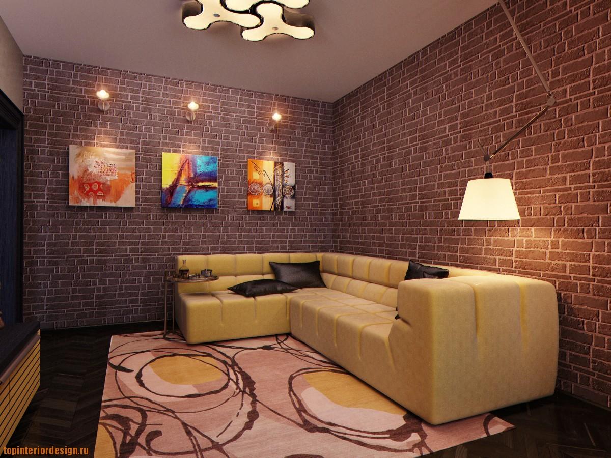 Дизайн интерьера спальни гостиной