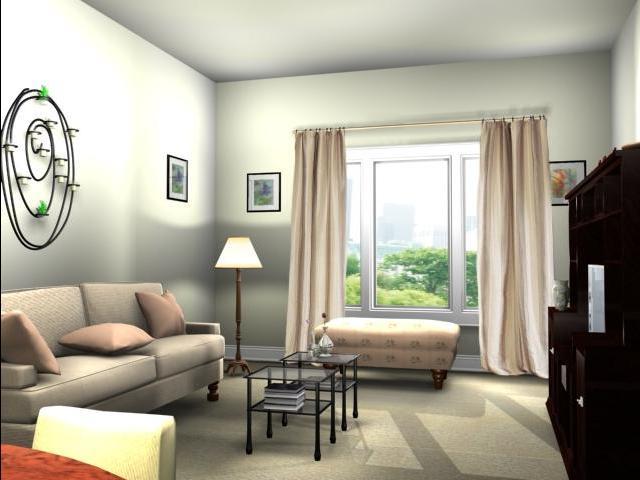 Дизайн гостиная-кабинет