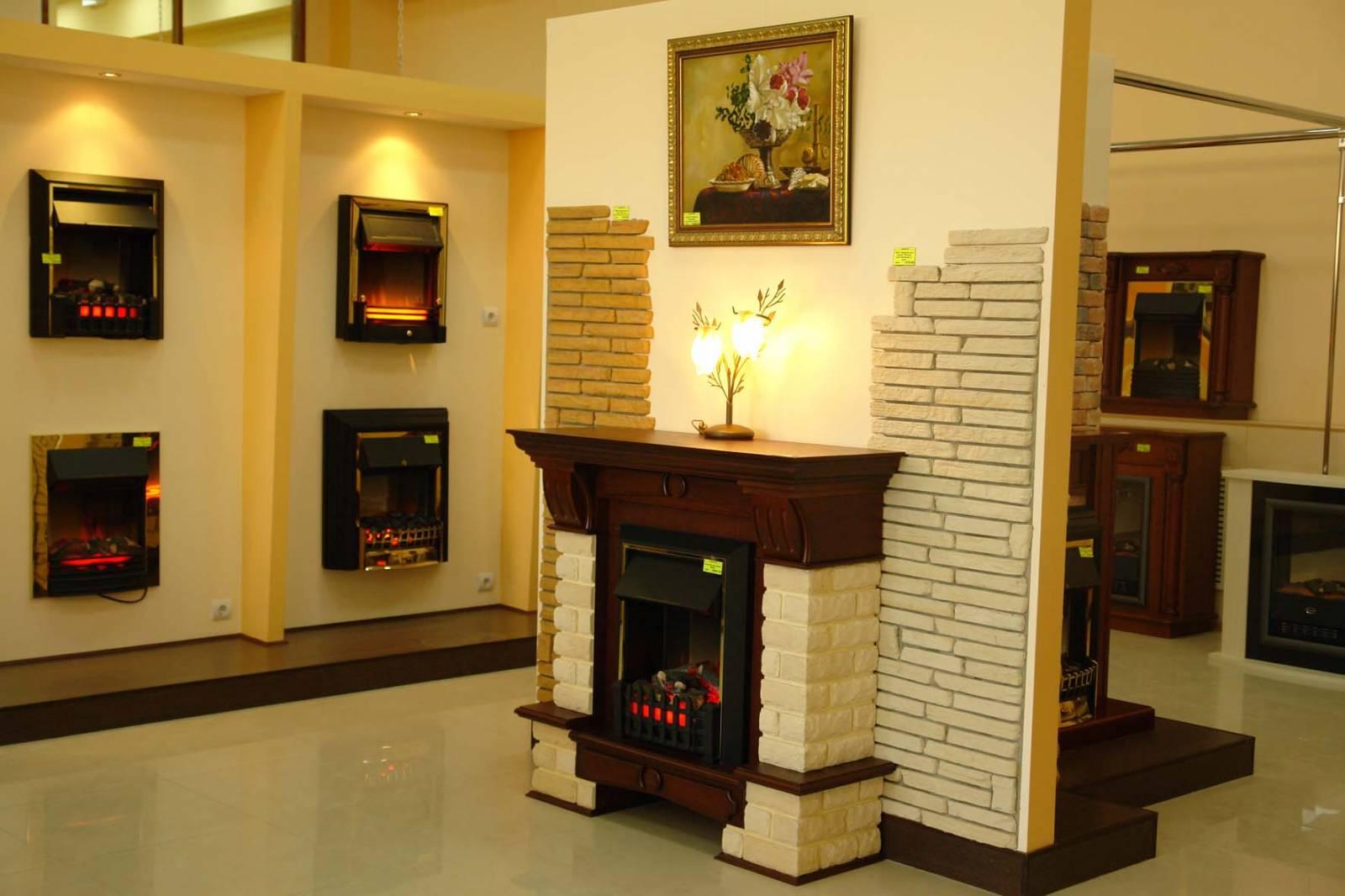 Декоративный камин в интерьере фото